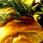Зелёные овощи, запеченные в тесте фило