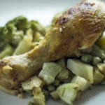 Курица в соусе из брокколи по-вьетнамски