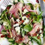 Капустный салат с говяжьим стейком
