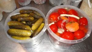 Квашеные овощи в соевом соусе