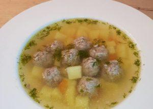 Солнечный» суп с фрикадельками