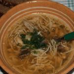 Фасолевый суп с вермишелью и грибами