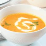 Морковный суп с курицей и чесноком