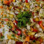 Салат из китайской капусты с горчичным соусом