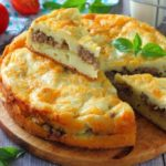 Заливной пирог с фаршем и картошкой на майонезе, рецепт с фото