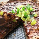 Шоколадно-ореховый торт с виноградом, рецепт с фото