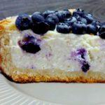 Творожно-миндальный кекс с голубикой, рецепт с фото