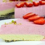 Клубничный творожный муссовый торт (Готовлю каждое лето!)