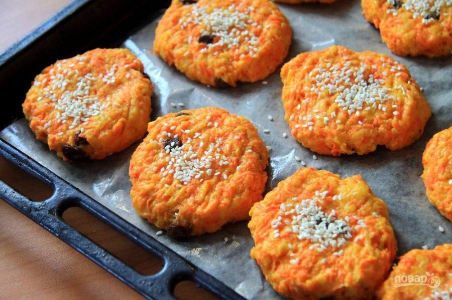 Морковные печенья