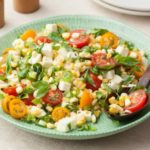 Салат из помидоров и кукурузы с моцареллой, рецепт с фото