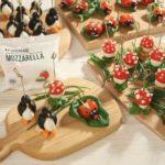 Закуски «Грибы» и «Божьи коровки» с моцареллой, рецепт с фото