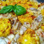 Морской окунь в вине и томатах со свежей кукурузой, рецепт с фото и видео
