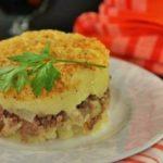 Картофельная запеканка с говяжьим фаршем и сыром в духовке, рецепт с фото пошагово