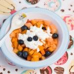 Фруктовый салат с дыней и абрикосами