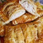 Слойки с курицей и сыром