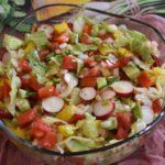 Салат «Минутка» с помидорами