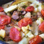 Овощное рагу с мясом и зеленью в духовке, рецепт с фото