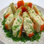 Фаршированные крабовые палочки с сырно-чесночной начинкой, рецепт с фото и видео