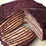 Бархатный торт с кремом «Мороженое» на сковороде