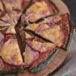 Пицца на основе из шпината с ветчиной и сыром, рецепт с фото пошагово