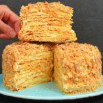 Просто идеальный торт «Наполеон» получается по этому рецепту! Очень вкусный крем и слоистые коржи!