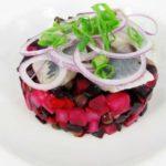 Винегрет с селедкой, квашеной капустой и укропом, рецепт с фото и видео
