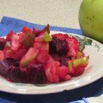 Винегрет со свежей капустой и яблоком без картошки, рецепт с фото