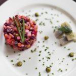Слоеный винегрет с фасолью без капусты, рецепт с фото