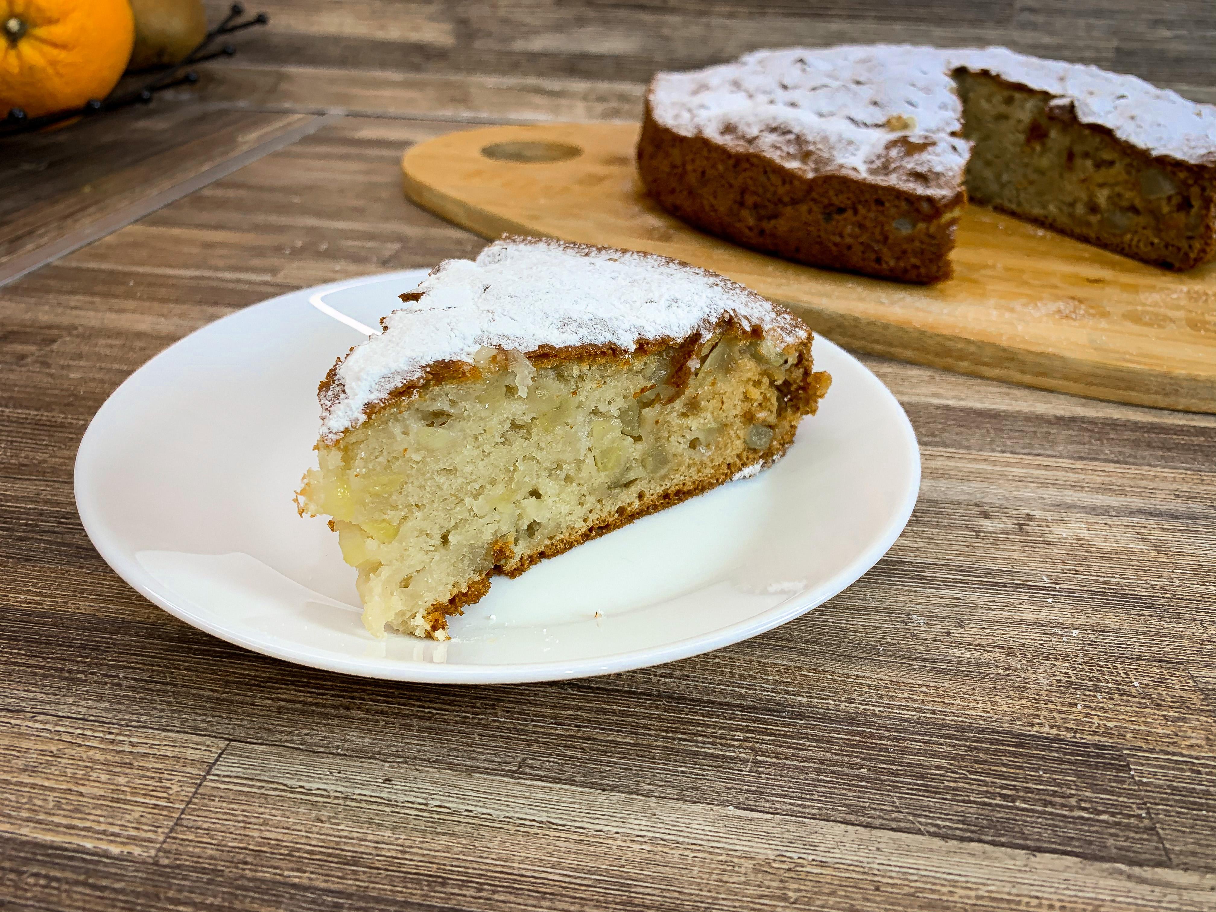 """Сметанный пирог с яблоками (Вкуснее, чем """"Шарлотка"""")"""
