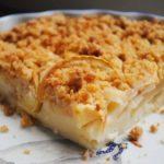 Яблочный пирог со штрейзелем в духовке, рецепт с фото