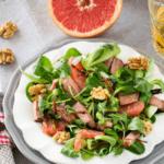 Салат с куриным филе, грейпфрутом и шпинатом, рецепт с фото и видео