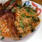 Рис с овощами и куриными крыльями в духовке, рецепт с фото и видео