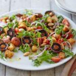 Постный салат с шампиньонами и болгарским перцем, рецепт с фото и видео