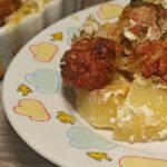 Фрикадельки с картошкой в сливочном соусе в духовке, рецепт с фото и видео