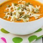 Сливочный крем-суп из запеченной тыквы с чесноком, рецепт с фото