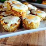 Картофельные корзиночки с яичницей в духовке, рецепт с фото пошагово