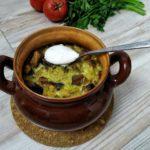 Картофельная бабка с мясом и грибами в духовке, рецепт с фото и видео