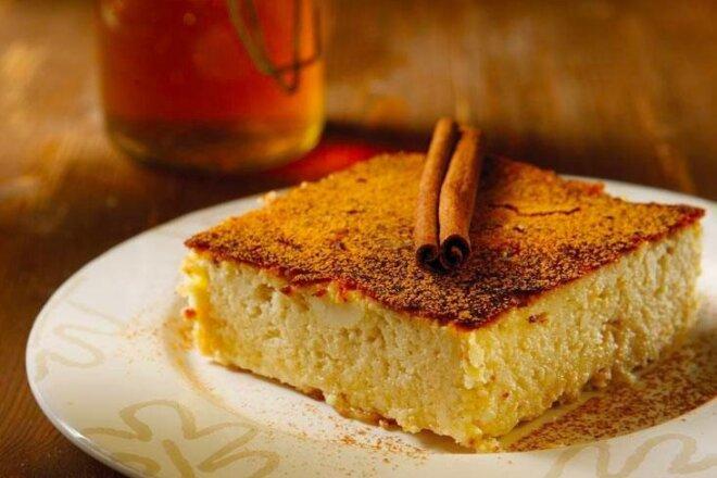 Творожная запеканка с корицей и медом, рецепт с фото